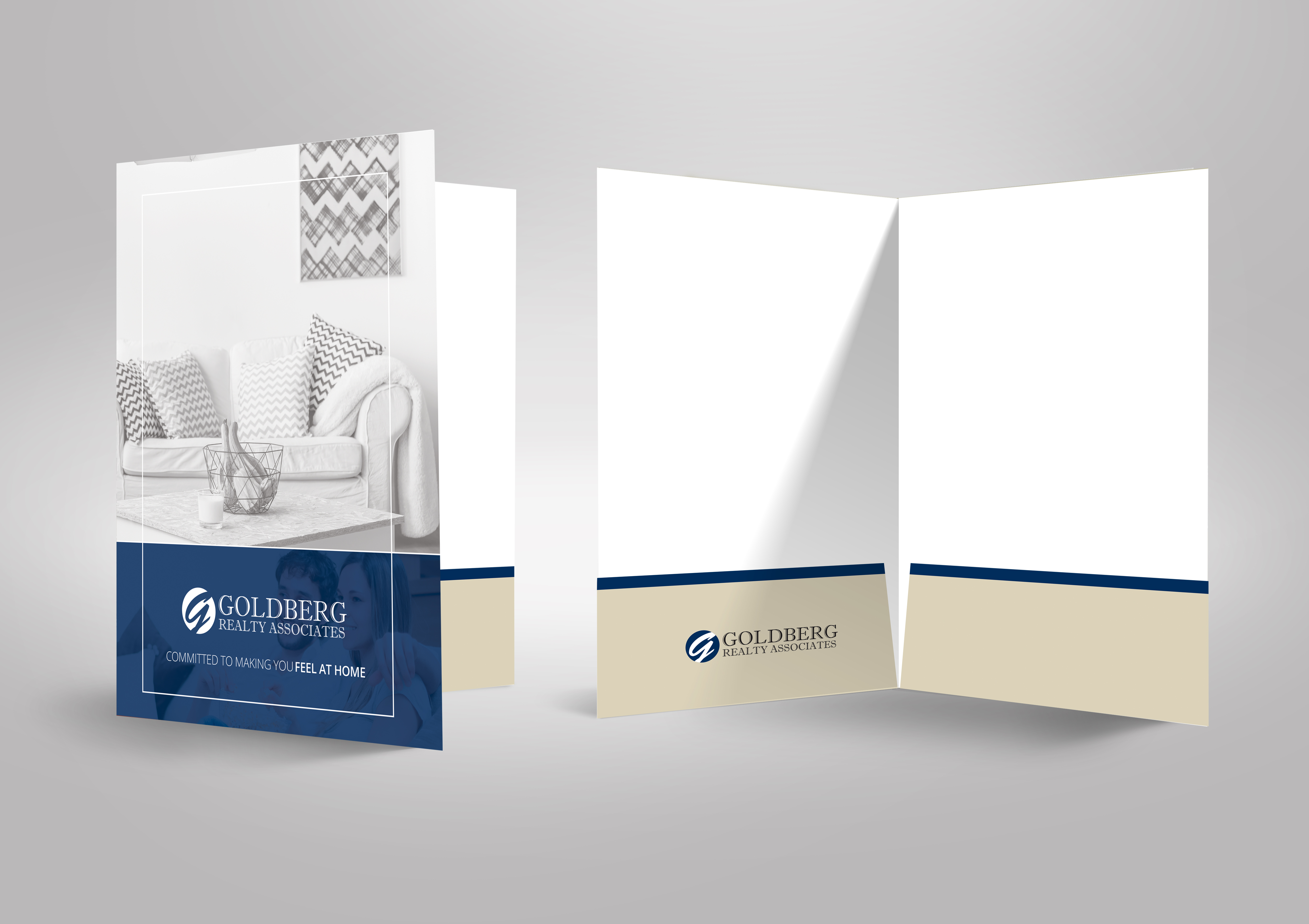 Goldberg Realty marketing folder design
