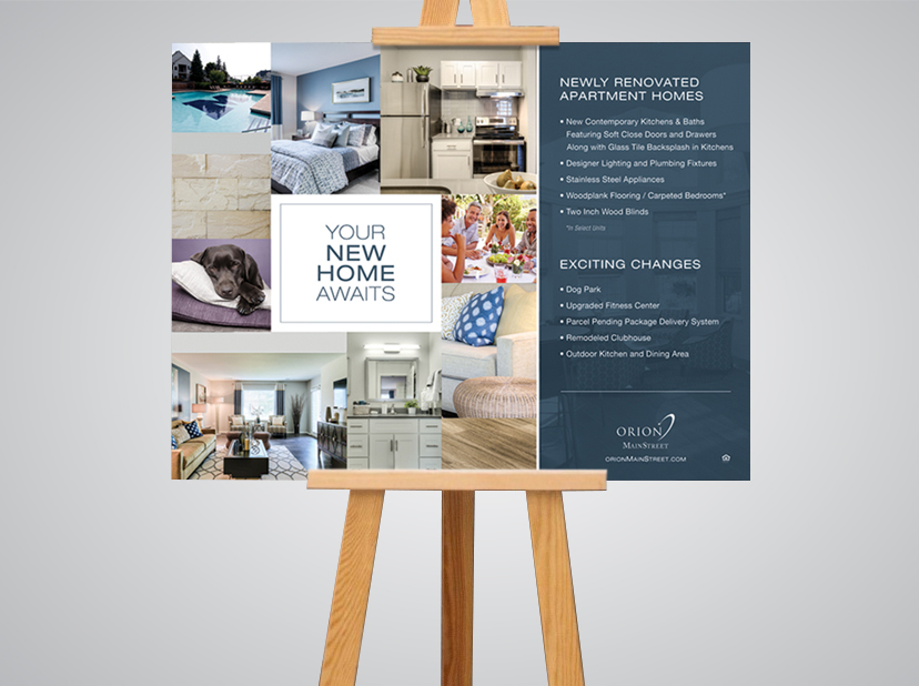 Main Street Apartments marketing poster design