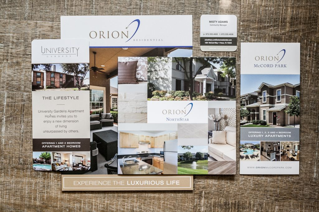 Orion Residential printed collateral