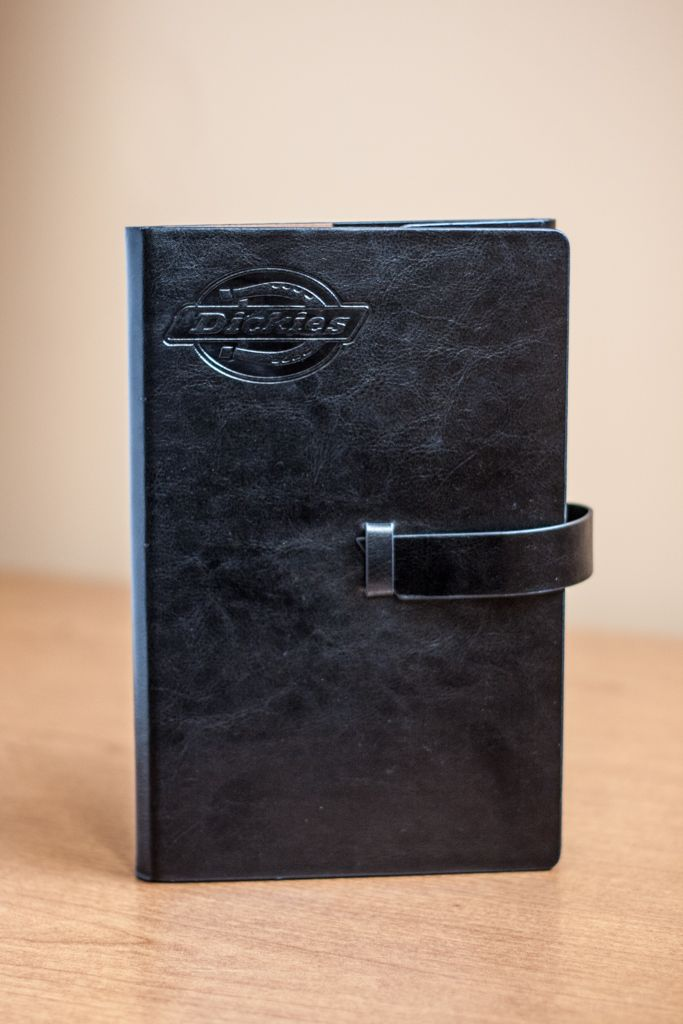 Dickies leather portfolio with logo imprinting
